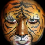 the tiger face painting